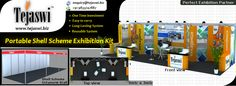 Shell Scheme Portable Exhibition Stand: We offer custom Portable Exhibition Stand Solution for Shell Scheme stalls, Portable Exhibition kit, Portable Exhibition Stall