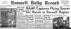 "Happy anniversary, Roswell, N.M. It was 65 years ago today that the Roswell Daily Record blasted an infamous headline claiming local military officials had captured a flying saucer on a nearby ranch. And now, a former CIA agent says it really happened.    ""It was not a damn weather balloon -- it was what it was billed when people first reported it,"" said Chase Brandon, a 35-year CIA veteran. ""It was a craft that clearly did not come from this planet, it crashed ..see link"