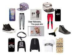 """""""FOLLOWERS ARE PERFECT"""" by hallie-hamilton ❤ liked on Polyvore featuring La Garçonne Moderne, Ultracor, Cutie Fashion, Casetify, Topshop, ASOS and Converse"""