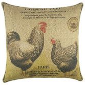 Features:  -Cover material: Burlap.  -Fill material: 100% Polyester.  -Zipper closure.  -Handmade.  -Spot clean recommended.  -Made in the USA.  Product Type: -Throw pillow.  Color: -Beige; Black.  St