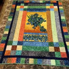 The Cotton Club Wild Iris Quilt Pattern With Vincent Van