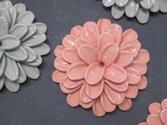 Flower Blooms Wall Art CUSTOM ORDER OOAK by CoastalCeramics