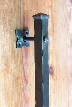 """Handmade Entrance Door Push Pull Handle 12/"""" Wrought Iron Barn Front Entry Gate"""