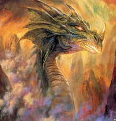 Nagga, the legendary Sea Dragon   By Bob Eggleton from 'The Book Of Sea Monsters'