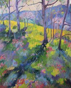 """Daily Paintworks - """"30 x 24 inch oil Wildflower Reserve"""" - Original Fine Art for Sale - © Linda Yurgensen"""