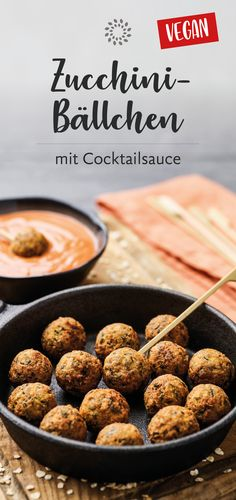 Courgette balls with cocktail sauce- Zucchini-Bällchen mit Cocktailsauce Today we cooked delicious # zucchini balls for you. This healthy recipe requires only a few ingredients and is prepared extremely quickly. Salmon Recipes, Lunch Recipes, Beef Recipes, Breakfast Recipes, Vegetarian Recipes, Healthy Recipes, Healthy Lunches, Healthy Foods, Clean Eating Salmon