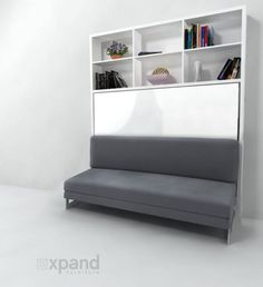 Compatto Horizontal Wall Bed Over Sofa