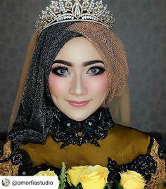 Wedding Hijab, Wedding Wear, Wedding Make Up, Hijab Fashion, Fashion Art, Hijab Hipster, Hijab Makeup, Muslim Brides, Mode Hijab