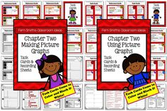 ** 50% Off for the First Two Days! ** Using and Making Picture Graphs Task Cards and Recording Sheet No Common Core {An additional resource for Go Math, Third Grade, Chapter One.} #TPT $Paid