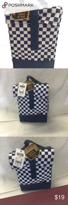 Vans blue checkerboard lunch box Vans blue checkerboard lunch box insulated sack reusable lunch bag NWT,GENUINE., SHIP WITH CARE,BRAND NEW WITH TAG,EUE Vans Bags Tween Backpacks, Vans Bags, Reusable Lunch Bags, Box Van, Louis Vuitton Damier, Lunch Box, Ship, Pattern, Blue