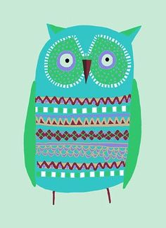 'Small Green Owl' by Jane Newland