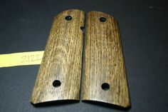 SALE! FIT 1911 GRIPS Full Size TIGER OAK Wood NICE STRIPING! .45 acp Colt Mag 8 #206GRIPS