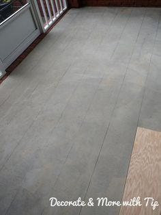 I am so happy on how my back porch concrete floor turned out. Since you are here, you must want to see how I mastered this look. Concrete Wood Floor, Concrete Stain Colors, Concrete Porch, Painted Concrete Floors, Painting Concrete, Concrete Lamp, Concrete Design, Stained Concrete, Concrete Countertops
