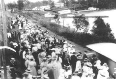 Toronto Railway Station, workers from Arnotts Factory arriving for a picnic