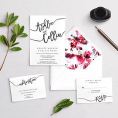 Script Names Wedding Invitations - Calligraphy Marriage Invitation - Ceremony Invites, Custom Personalized Modern Invites Affordable Casual Wedding Invitation Samples, Invitation Design, Invites, Custom Fonts, Envelope Liners, Response Cards, Favor Tags, As You Like, Marriage