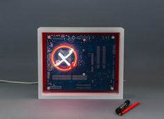 We create [dys]functional spectr-objects using recycled electronics and light. Neon Gas, Machine Age, Red Background, Light Decorations, Wooden Frames, Recycling, Box, Tube, Instruments