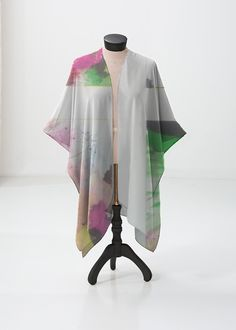 This sheer kimono-style wrap comes to the knee and drapes beautifully over a swimsuit or summer dress. Perfect for festivals or the beach. White Tulips, Pink White, Summer Outfits, Summer Dresses, Pink Abstract, Blush And Gold, Green And Orange, Yellow, Spring Colors