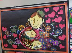 Art ,Craft ideas and bulletin boards for elementary schools: Mothers Day Bulletin Board