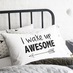 Adairs Kids AK Text Pillowcases - Bedroom Pillowcases - Adairs Kids online