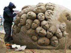Sand Sculpture Art - Amazing, Beautiful, Stunning and Unique Sand Art ...