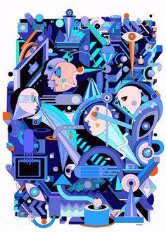geometric art  https://www.behance.net/gallery/24545547/geometric