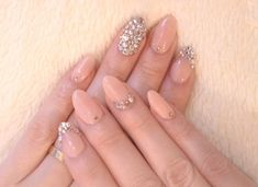 Nude nails with a little glitter. Nails Nails Nails! The best accessory is a fresh manicure. Visit Walgreens.com for more