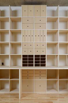 カウンター付き本棚 机付き本棚