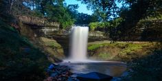 MINNESOTA: Minnehaha Park is one of Minnesota's oldest parks and stands out from the rest with its majestic 53-foot waterfall.