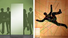 Most people buy vector art for print projects, but did you know that you can also use vectors for creating large scale graphics for your studio or office? Create innovative spaces for very little mone Law Office Design, Office Interior Design, Office Interiors, Innovative Office, Office Ideas, Offices, Vector Art, Vectors, Innovation