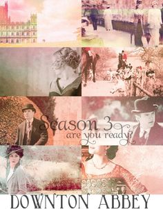 Downton Abbey...a collection of images to get you excited for Season 3 via Nest of Posies