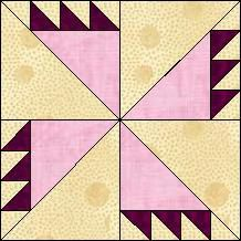 Quilt-Pro Systems - Quilt-Pro -  Block of the Day-Rosebud...The Block of the Day is available to all quilters, regardless of whether you own our software programs. You can download the Block of the Day as a .pdf file