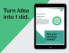 Responsive Web Design, Interactive Design | Venture Leadership Consulting | Non-Profit | design by PERSONIFY