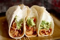 Chili lime chicken tacos in the crock pot with fresh homemade salsa and fresh margaritas