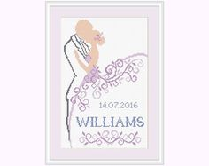 Cross stitch pattern Wedding gift Wedding por PatternsTemplates
