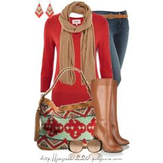 """Red, Tan and Mint"" by jaycee0220 on Polyvore"