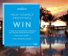 SINGLE ENTRY  Win $2,000 a trip to Palm Beach, Florida! Enter now: http://r29.co/1L9CLe7