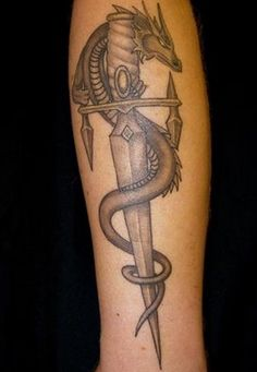 Images For > Dragon Sword Tattoo Designs