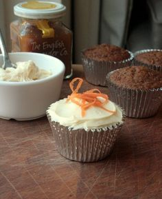 Carrot and Ginger Cakes with Cheesecake Icing