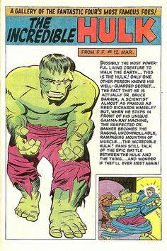 jack kirby. the incredible hulk. 001