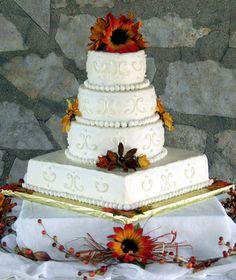 Fall-Themed Cakes   Fall Themed Wedding Cakes - Wedding Cakes - Zimbio