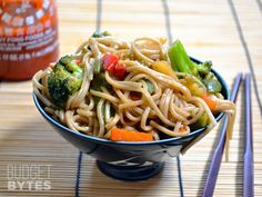 These teriyaki noodle bowls are fast, easy, and super flavorful. Forget take out and whip up your own healthy Asian meal at home. Step by step photos.