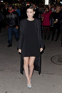 Rooney Mara can never look bad in her all black signature style.