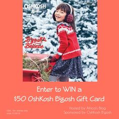 Enter to WIN a $50 OshKosh B'gosh Gift Card! #bgoshbelieve (ends 11/29)