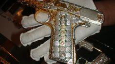 Diamond Gold Guns found from Mexican Drug cartel #bizzarejewelry #superrichjewelery #diamondjewelry