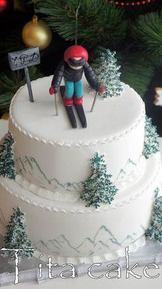 Хри Си - Tita Cakes - Snowboarding iDeas In the early Bob W. Adult Birthday Cakes, Birthday Fun, Snowboard Cake, 18th Party Ideas, Sport Cakes, Fondant Tutorial, Fondant Toppers, Novelty Cakes, Creative Cakes