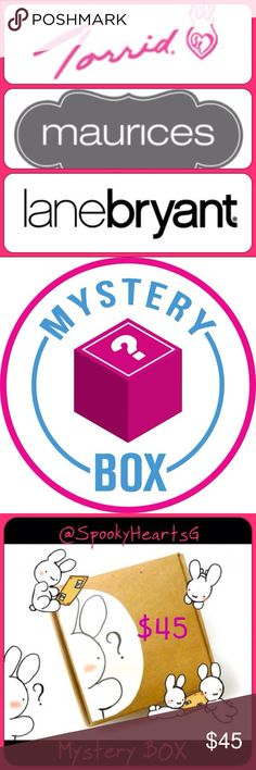 Plus size Mystery box Your picks 5 + Free gift Total of 6 item! Get 1 ultimate SpookyPack! 6 beauty items & cosmetic bag! Pick at least 15+ items in my closet you get 1 purse/shoes/accessories and 4 clothing items Beauty items  do not count aside from the free Spookpack no listed beauty are picked for the mystery box so you get 4 tops/ dress/bottoms/intimates wear   Pick your best items & ill put together a box for you !your box will be $200-$300 retail vale Mystery box is really worth it…