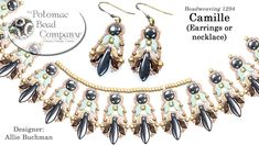 Camille Earrings (with StormDuo Beads)