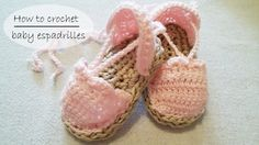 How to crochet baby shoes / baby espadrilles/ baby sandals PART 1 of 2