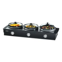2.5 Quart Lynbrook Triple Slow Cooker, just in time for the holidays! $46.95 for 2 days only