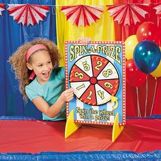 Carnival Spinner Game | Spin the wheel and win a prize! This classic carnival game is a must for your event. #carnival